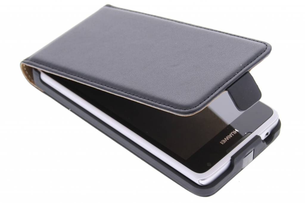 Zwarte luxe flipcase voor de Huawei Ascend Y530