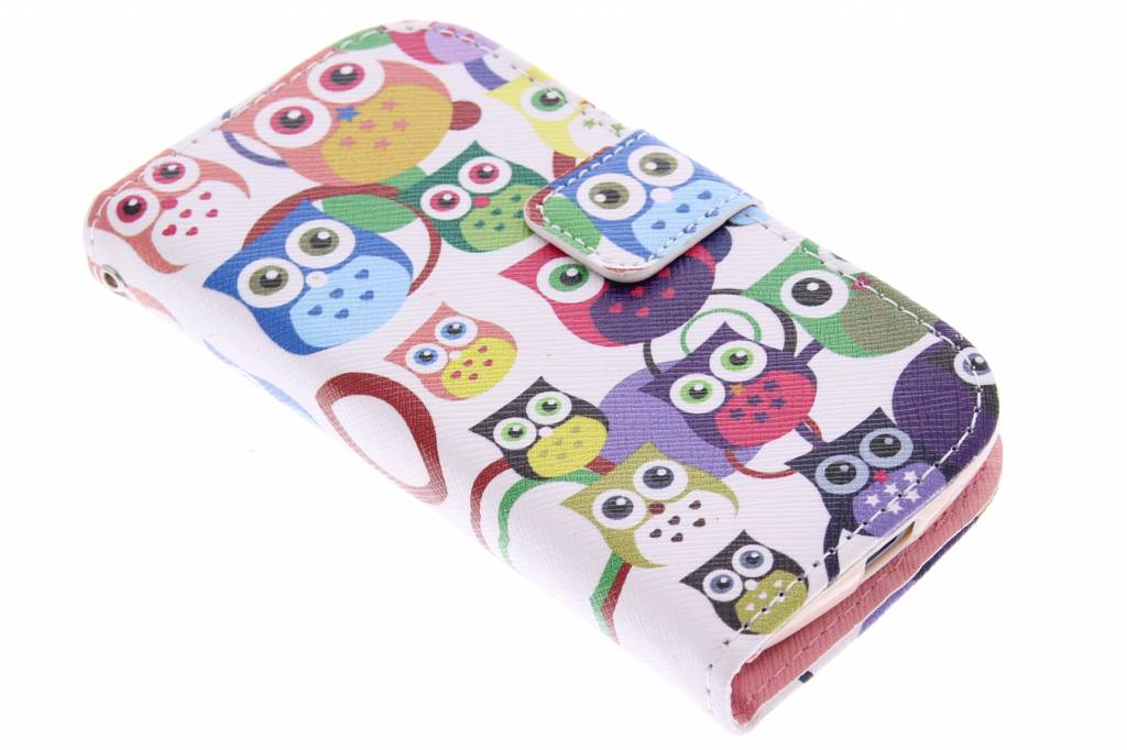 Uiltjes design TPU booktype hoes voor de Samsung Galaxy S Duos / Trend (Plus)
