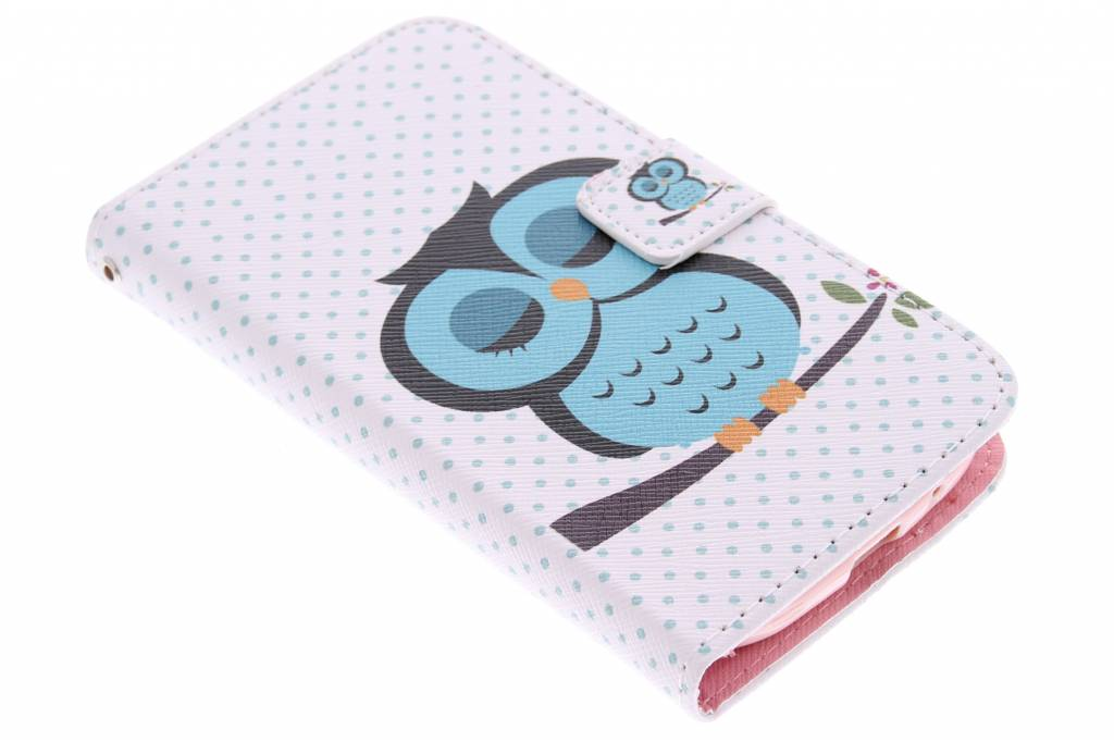 Uil design TPU booktype hoes voor de Samsung Galaxy S3 / Neo