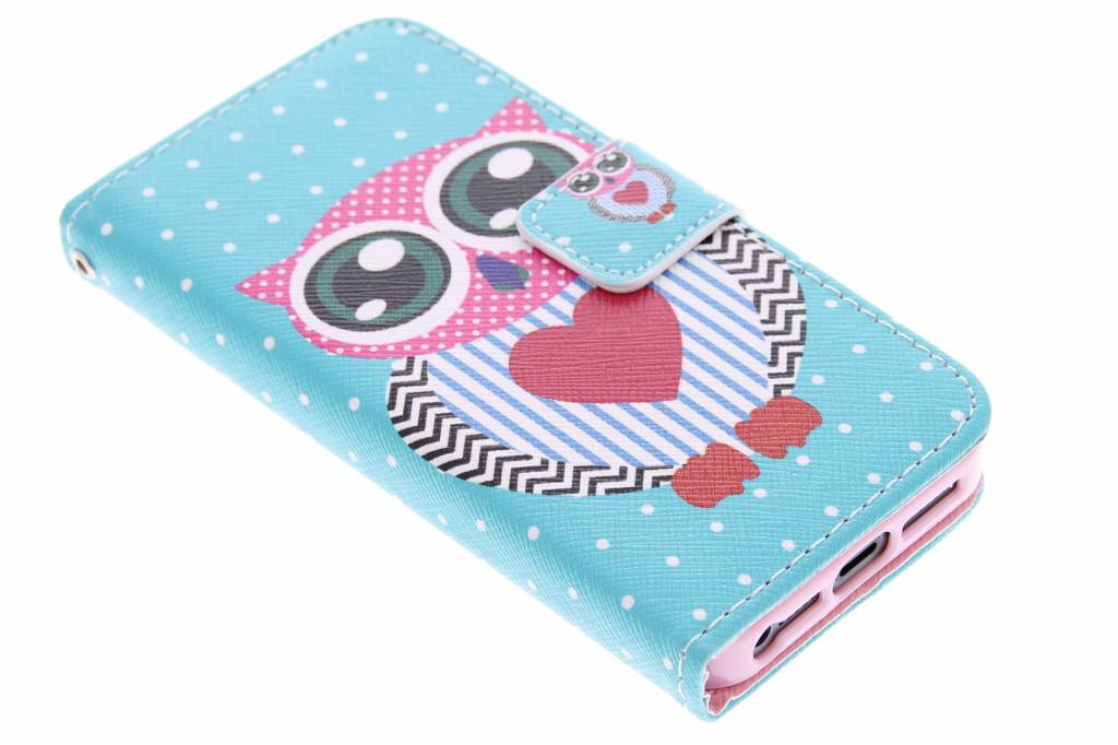 Uil design TPU booktype hoes voor de iPhone 5 / 5s / SE