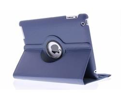 Blauw 360° draaibare hoes iPad 2 / 3 / 4