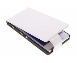 Wit classic flipcase Sony Xperia M2 (Aqua)