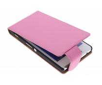 Roze classic flipcase Sony Xperia M2 (Aqua)