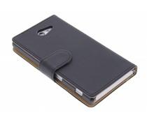 Zwart effen booktype hoes Sony Xperia M2 (Aqua)