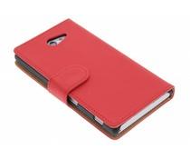 Rood effen booktype hoes Sony Xperia M2 (Aqua)