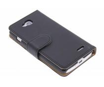 Zwart effen booktype hoes LG L90