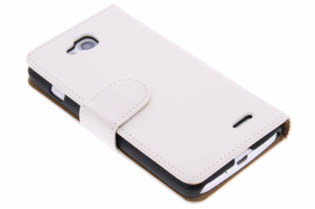 Witte effen booktype hoes voor de LG L90