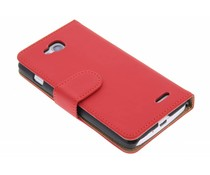 Rood effen booktype hoes LG L90