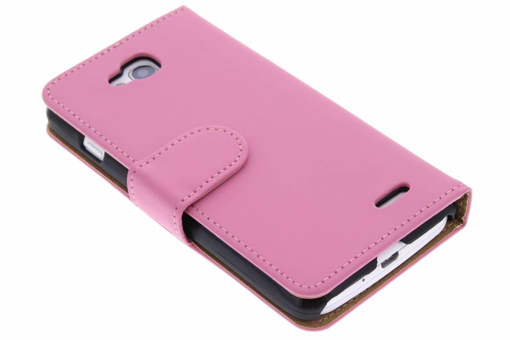 Roze effen booktype hoes voor de LG L90