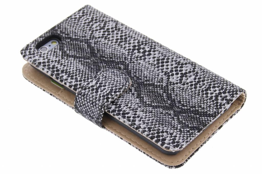 Grijze slangenprint booktype hoes voor de iPhone 6 / 6s