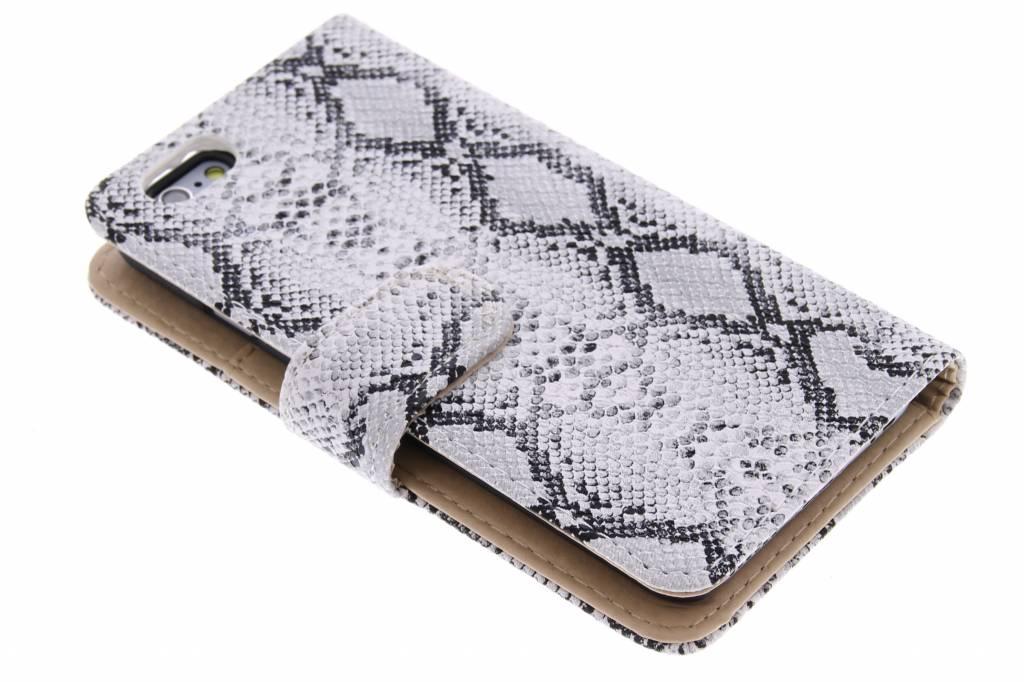 Witte slangenprint booktype hoes voor de iPhone 6 / 6s