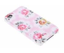 Roze bloemen design hardcase hoesje iPhone 4 / 4s