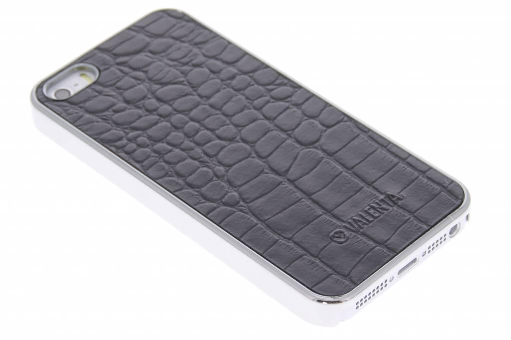Valenta Click-On Croco hardcase voor de iPhone 5 / 5s / SE - Zwart / Zilver
