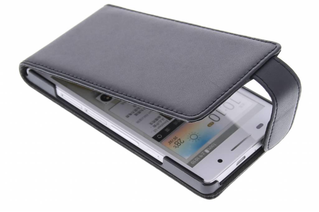 Zwarte stijlvolle flipcase voor de Huawei Ascend P6 / P6