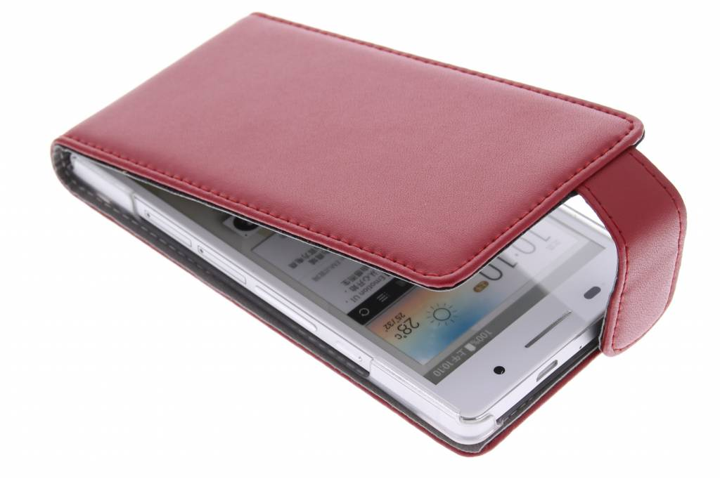 Rode stijlvolle flipcase voor de Huawei Ascend P6 / P6