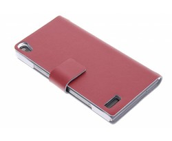 Rood stijlvolle booktype hoes Huawei Ascend P6 / P6s