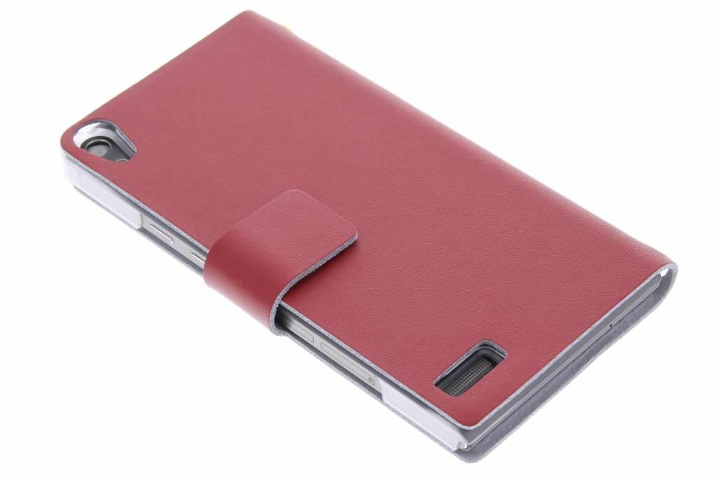 Rode stijlvolle booktype hoes voor de Huawei Ascend P6 / P6s