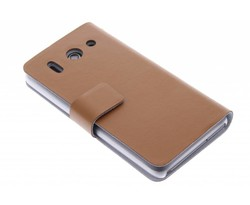 Bruin stijlvolle booktype hoes Huawei Ascend G510