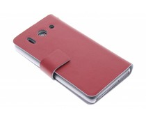 Rood stijlvolle booktype hoes Huawei Ascend G510