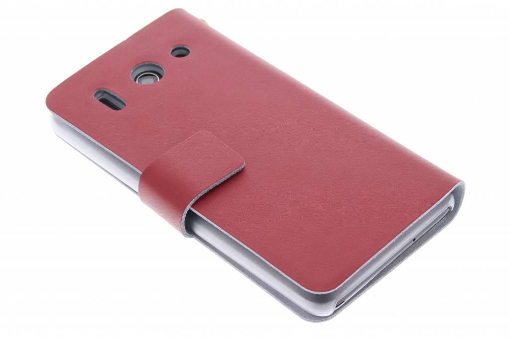 Rode stijlvolle booktype hoes voor de Huawei Ascend G510