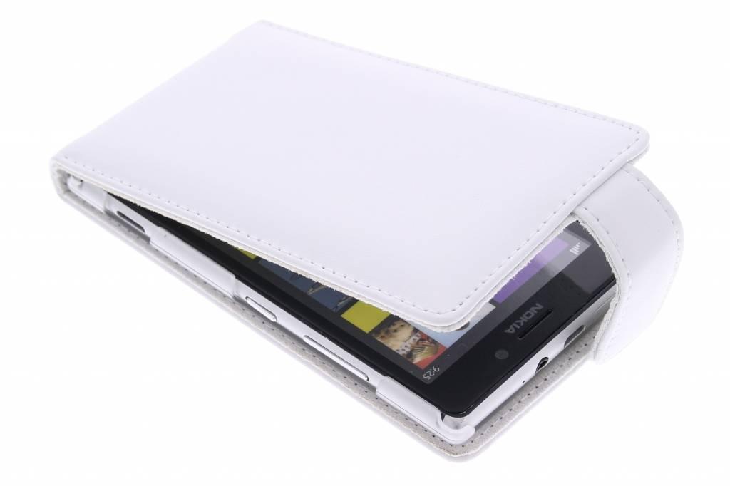 Witte stijlvolle flipcase voor de Nokia Lumia 925