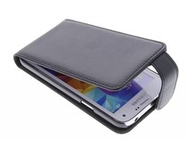Zwart stijlvolle flipcase Samsung Galaxy S5 Mini