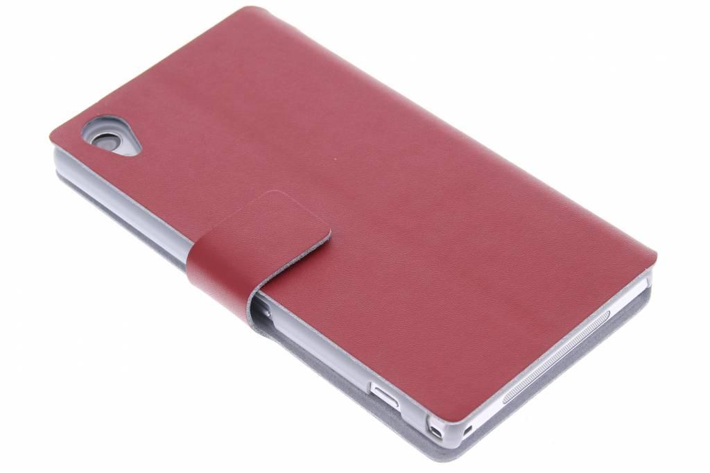 Rode stijlvolle booktype hoes voor de Sony Xperia Z1