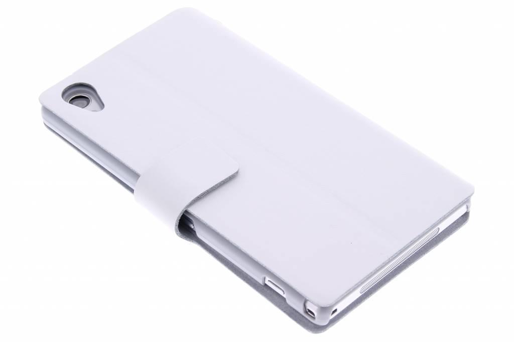 Witte stijlvolle booktype hoes voor de Sony Xperia Z1