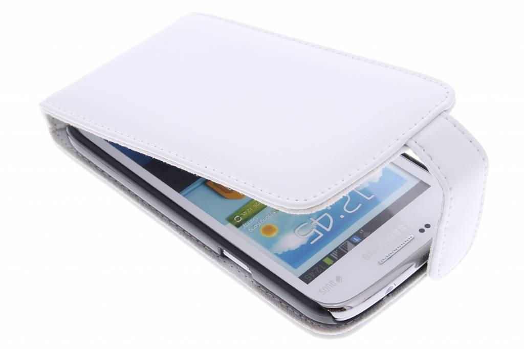 Witte stijlvolle flipcase voor de Samsung Galaxy Core