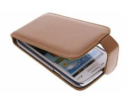Bruin stijlvolle flipcase Samsung Galaxy Core