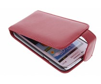 Rood stijlvolle flipcase Samsung Galaxy Core