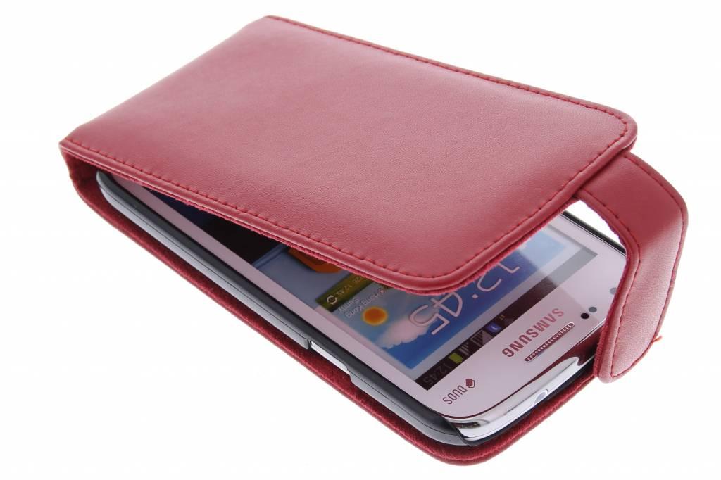 Rode stijlvolle flipcase voor de Samsung Galaxy Core
