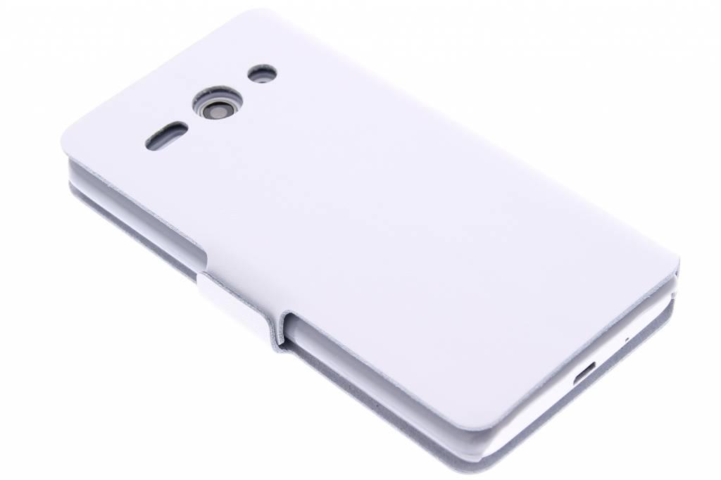 Witte luxe booktype hoes voor de Huawei Ascend Y530
