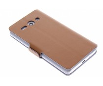 Bruin luxe booktype hoes Huawei Ascend Y530
