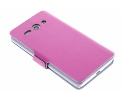 Fuchsia luxe booktype hoes Huawei Ascend Y530