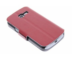 Rood luxe booktype hoes Samsung Galaxy Trend Lite