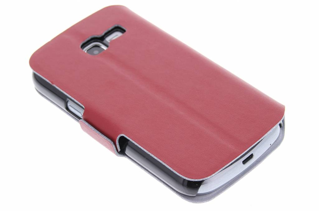 Rode luxe booktype hoes voor de Samsung Galaxy Trend Lite