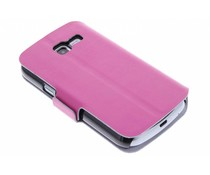 Fuchsia luxe booktype hoes Samsung Galaxy Trend Lite