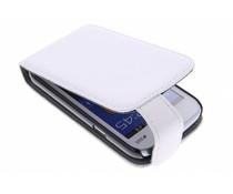Wit stijlvolle flipcase Samsung Galaxy Trend Lite