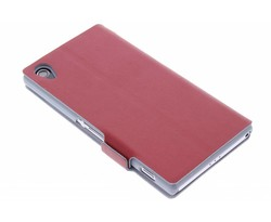 Rood luxe booktype hoes Sony Xperia Z2