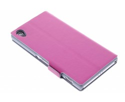 Fuchsia luxe booktype hoes Sony Xperia Z2