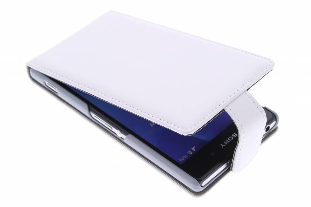 Witte stijlvolle flipcase voor de Sony Xperia Z2