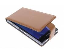 Bruin stijlvolle flipcase Sony Xperia Z2
