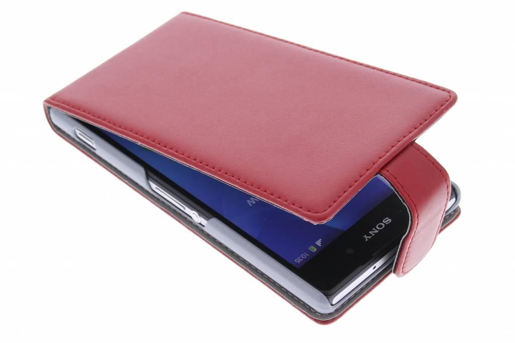 Rode stijlvolle flipcase voor de Sony Xperia Z2