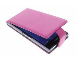 Fuchsia stijlvolle flipcase Sony Xperia Z2