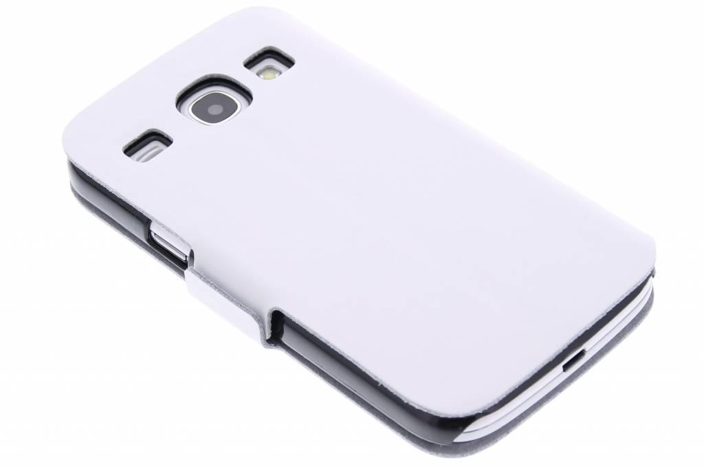Witte luxe booktype hoes voor de Samsung Galaxy Core