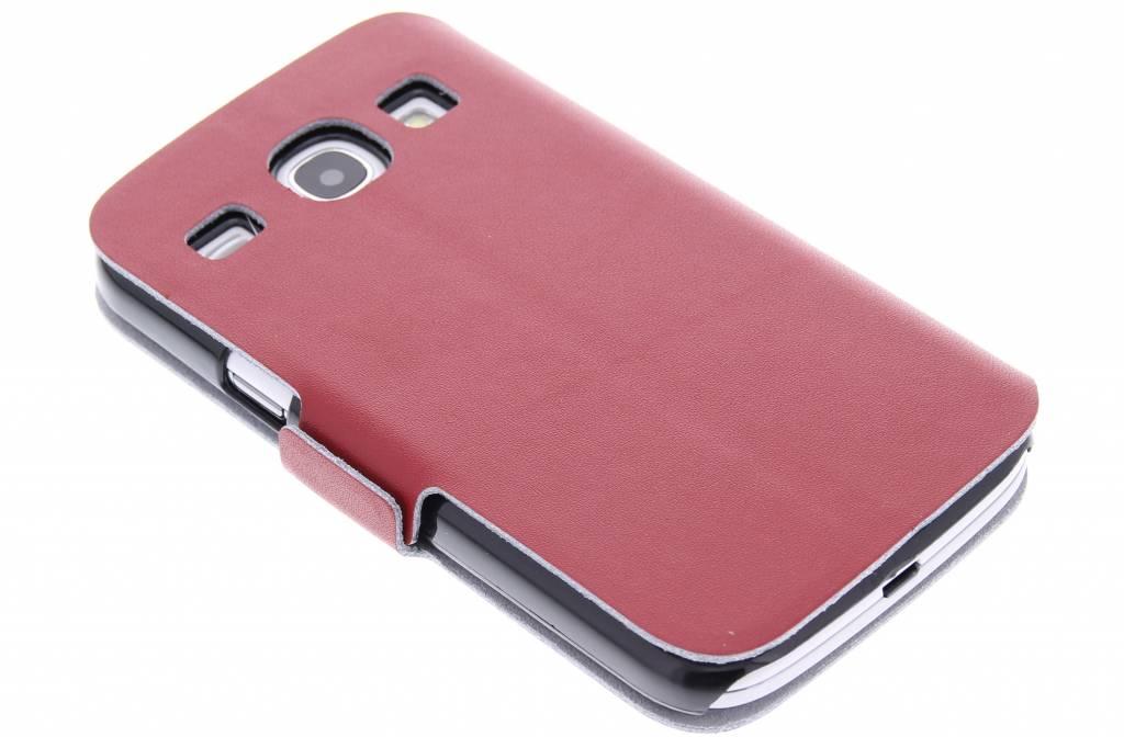 Rode luxe booktype hoes voor de Samsung Galaxy Core