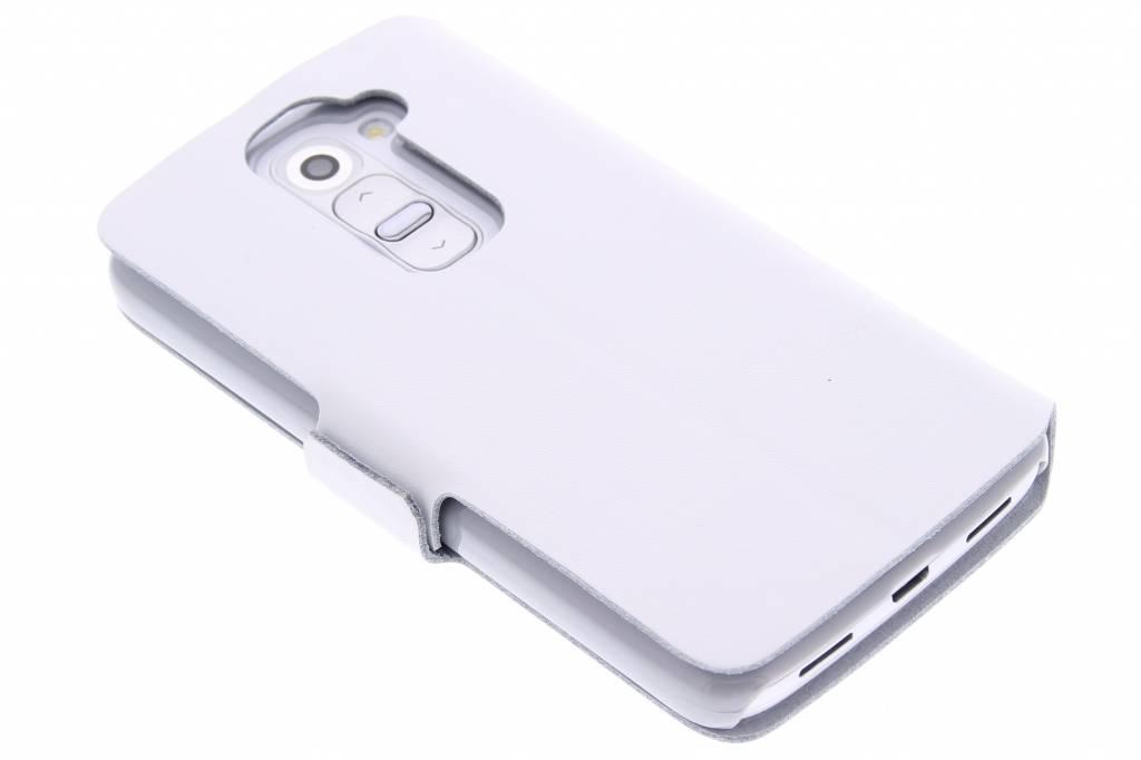 Witte luxe booktype hoes voor de LG G2 Mini