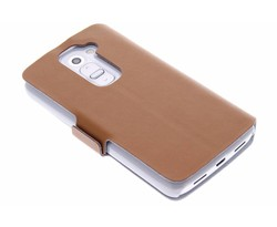 Bruin luxe booktype hoes LG G2 Mini