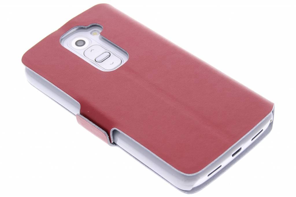 Rode luxe booktype hoes voor de LG G2 Mini